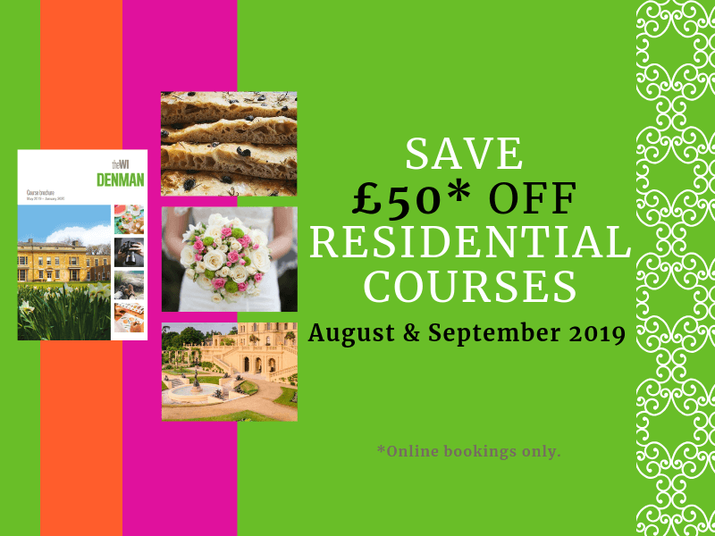Save on August & September Residential Courses
