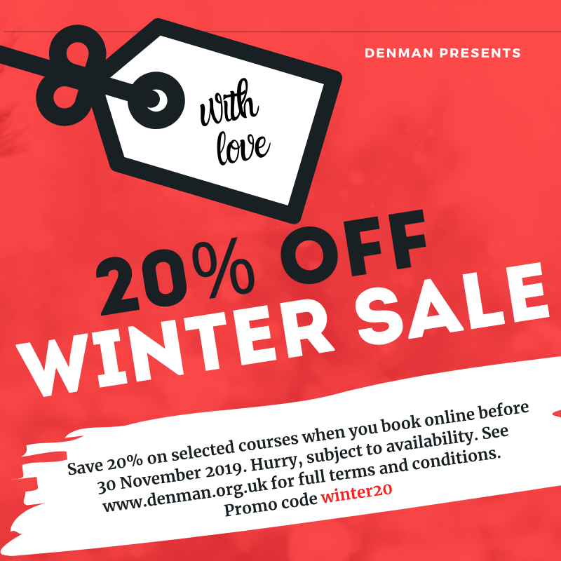 Save 20% on residential courses this Winter