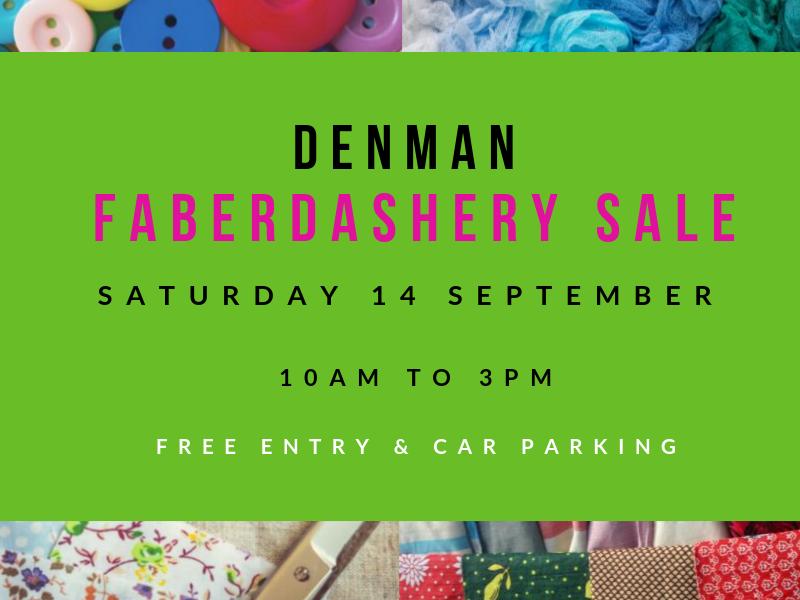 Denman Faberdashery Sale 14th September!
